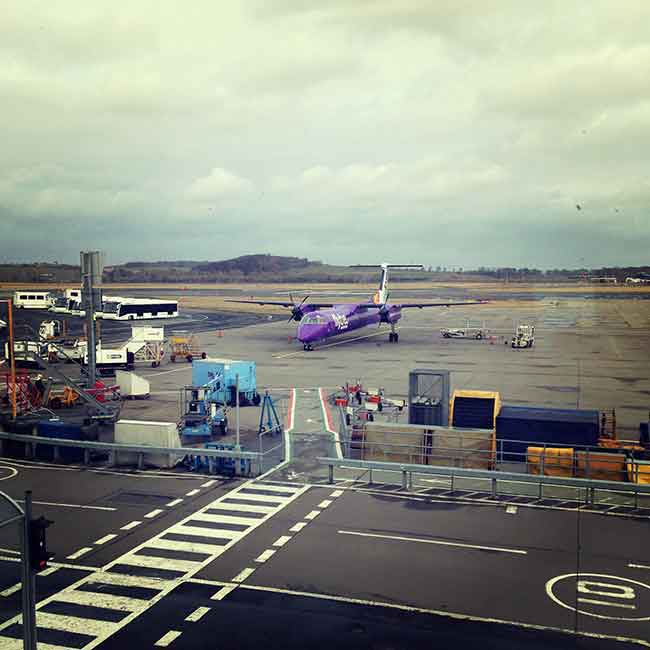 And my plane was purple... go FlyBe!